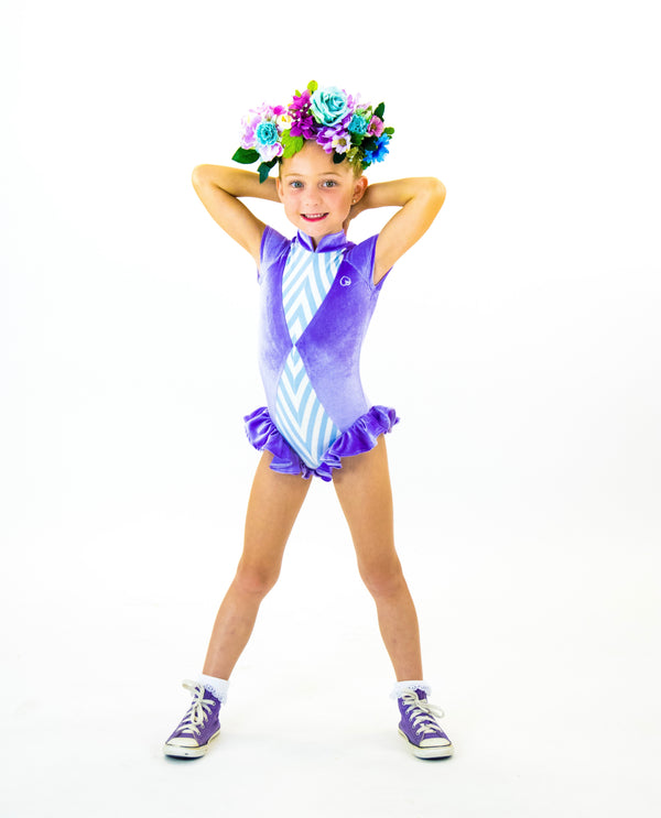 Little Lavender - Kids Ruffle Leotard