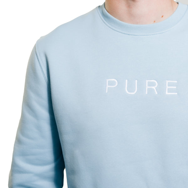 The Billow Sweatshirt - Sky Blue - PURE CLOTHING