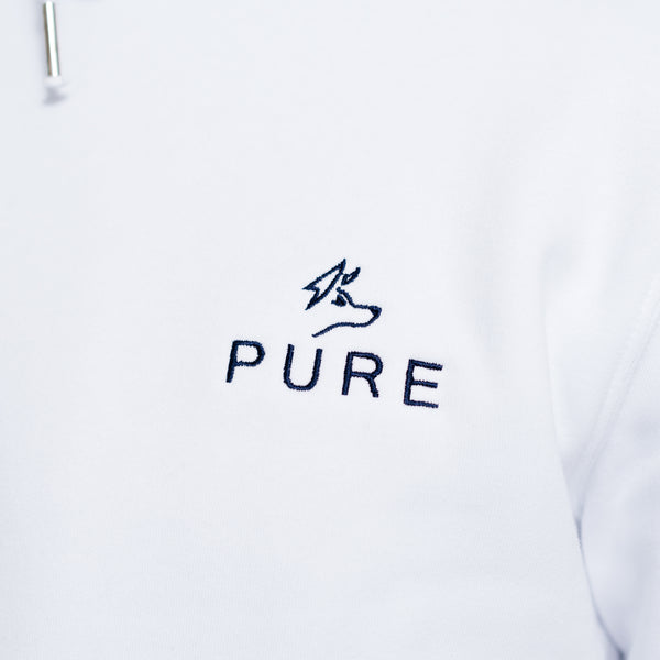 The Paddock Hoodie - White - PURE CLOTHING