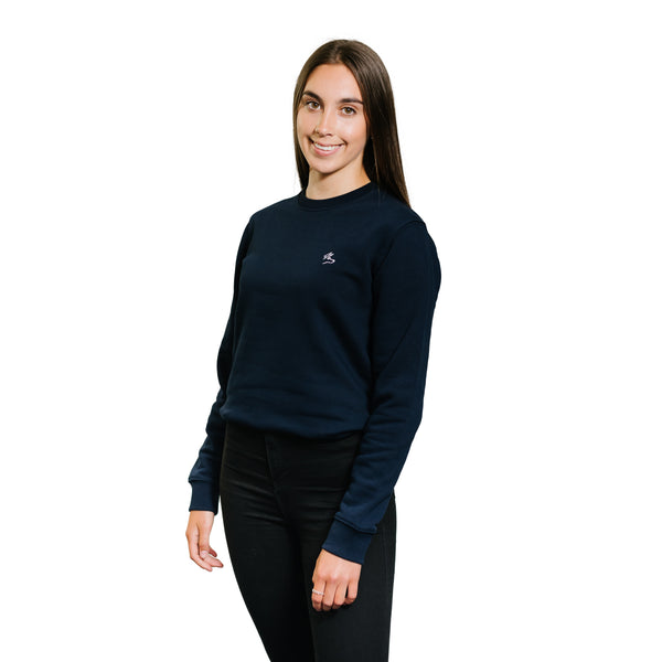 The Icon Sweatshirt - French Navy - PURE CLOTHING
