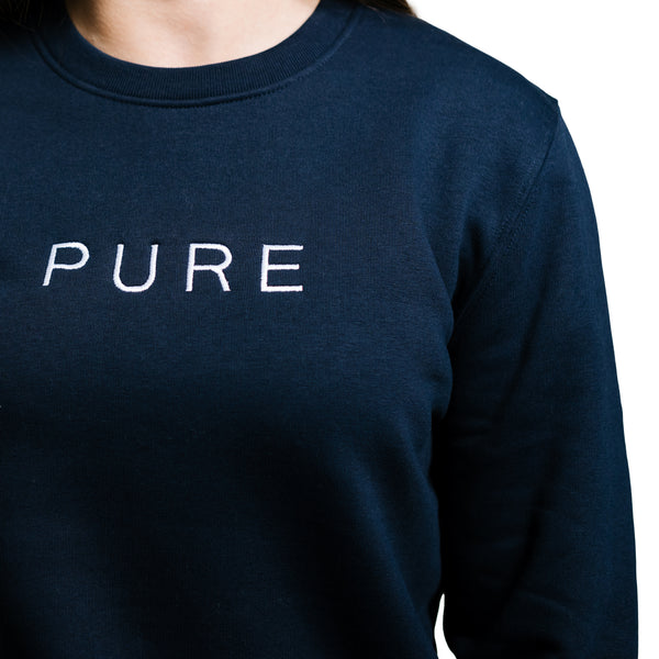 The Billow Sweatshirt - French Navy - PURE CLOTHING