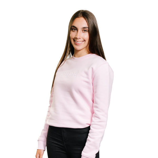 The Billow Sweatshirt - Cotton Pink - PURE CLOTHING