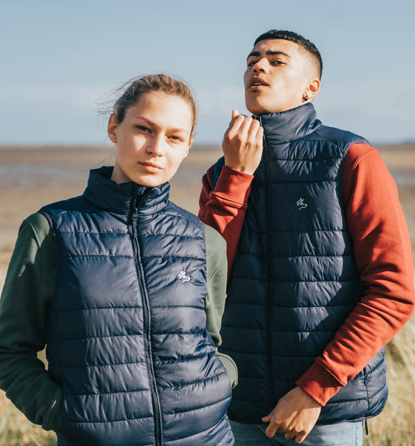The Axis Gilet - Navy - PURE CLOTHING