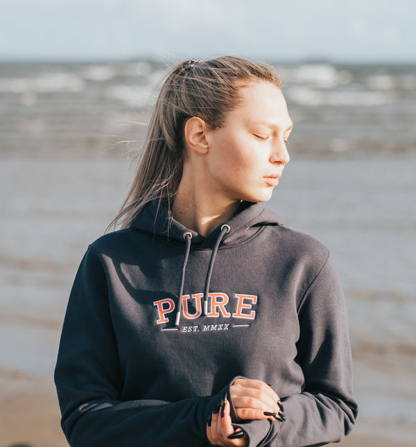 The Varsity Hoodie - India Ink - PURE CLOTHING