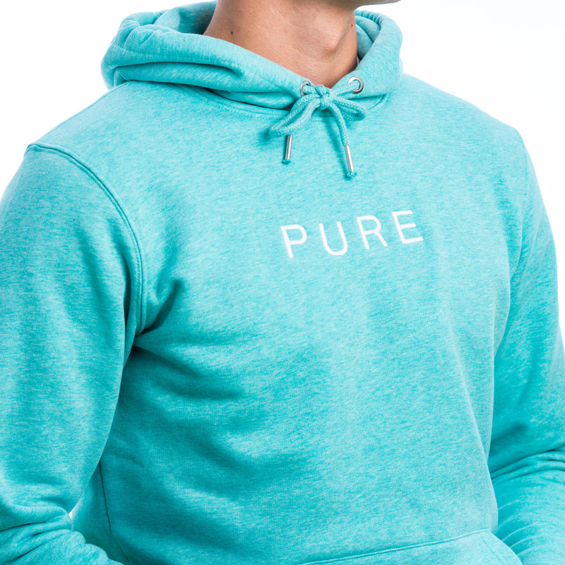 The Hamilton Hoodie - Mid Heather Green - PURE CLOTHING