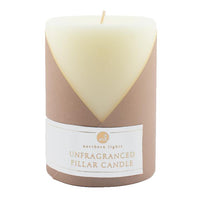 3x4 Pure White- Unfragranced Pillar Candle