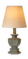 Distressed Gray Mini Accent Lamp- Hex Urn