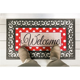 Polka-Dot Welcome Sassafras Switch Mat