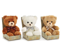 "4 1/2"" Boxed Sitting Bear"