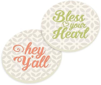 Bless & Yall- Car Coasters