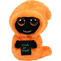 Ty Beanie Boos Grinner - Orange Ghoul w/Gold Tooth med