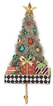 Glitter Tree Stocking Holder- Diamond