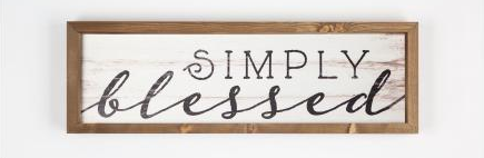 """Simply Blessed"" Sign"