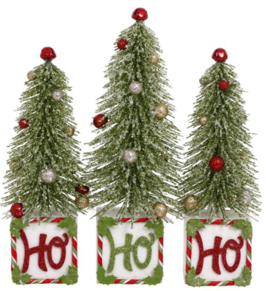 Ho Ho Ho Trees- Set of 3