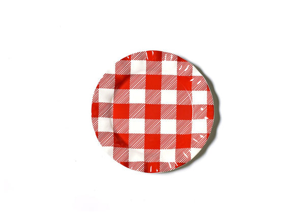 Buffalo Ruffle Red Plate