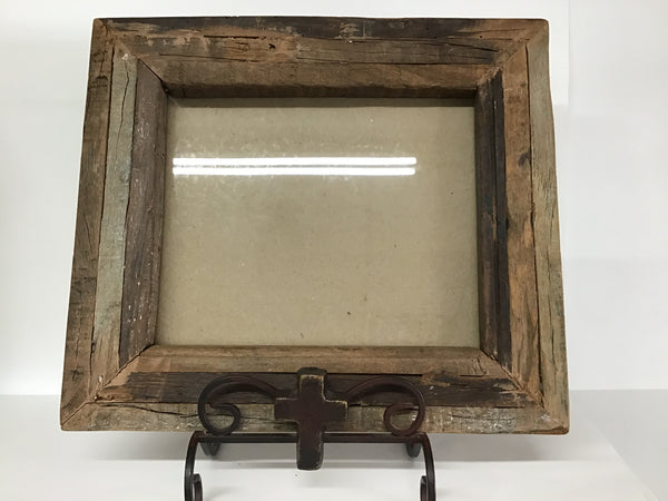 Heavy Found Wood Frame with Cross Easel 8x10