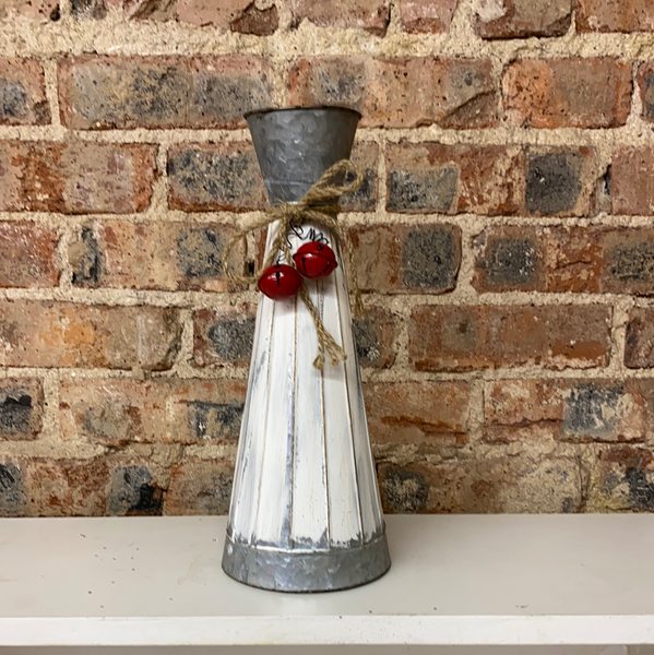 Large Skinny Metal Vase