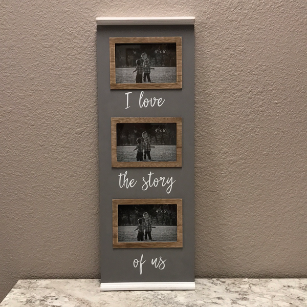 I love the story of us - Wall photo frame
