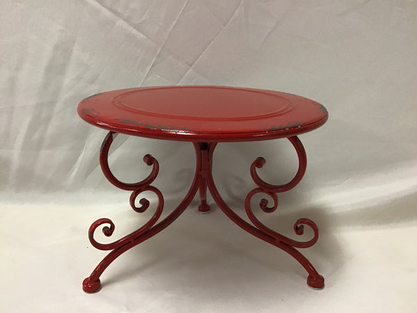 Red Metal Display Stand- Large