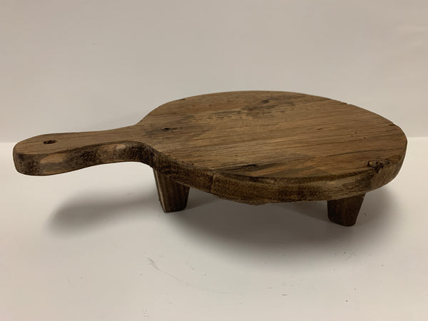 SMALL ROUND WOOD PEDESTAL BOARD