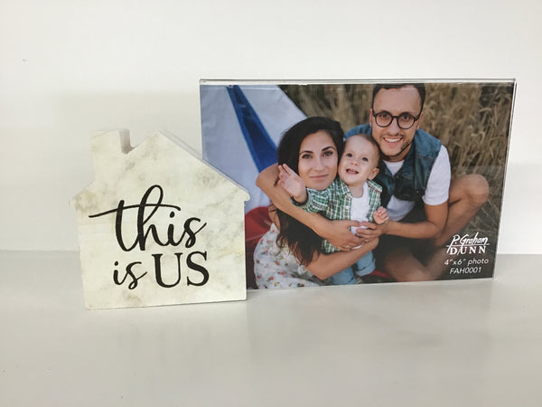 """This is Us"" Wooden House Frame"