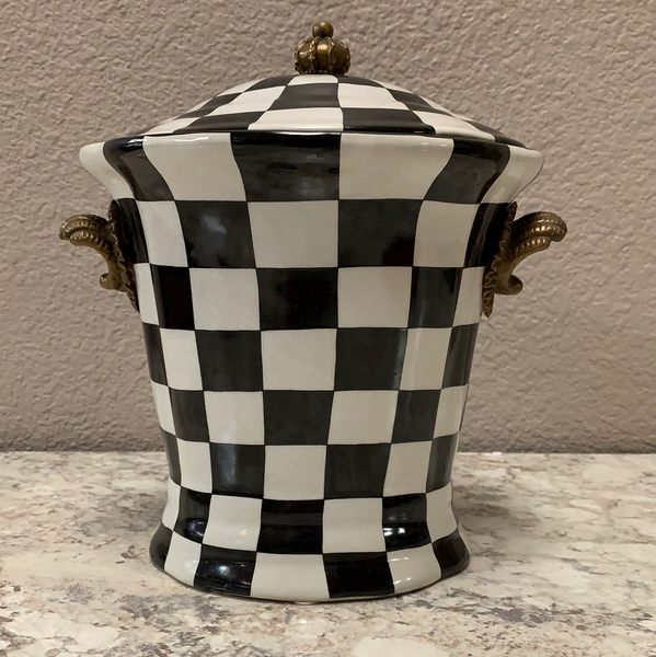 Black and White Checkered Canister