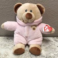 10in Baby Bear Pink TY Puffies