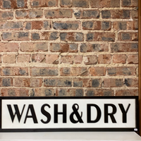 Wash and Dry Metal Sign