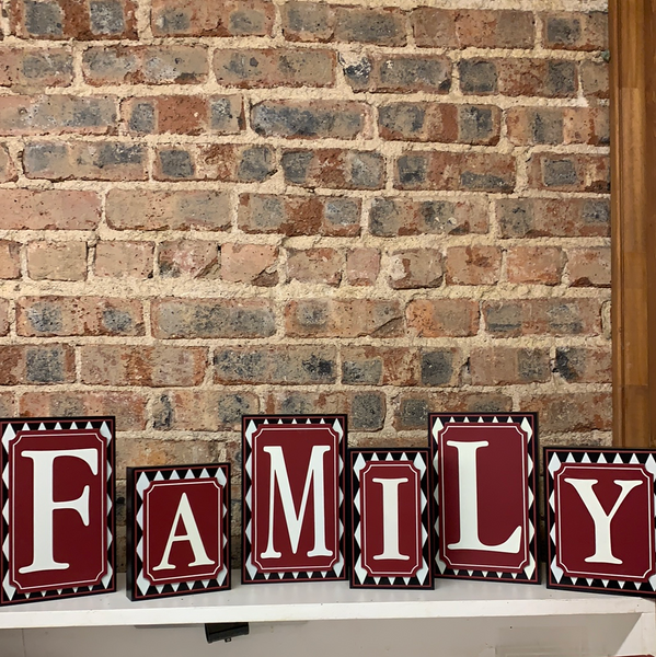 FAMILY Wooden Block Sign