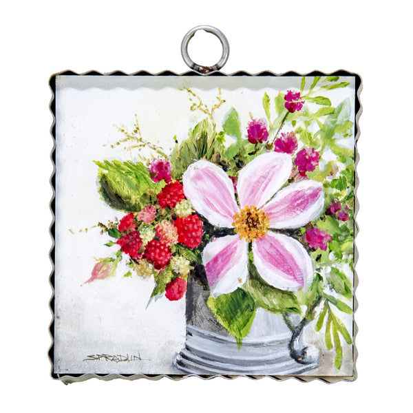 RT - MINI RASPBERRY ARRANGEMENT PRINT Charm