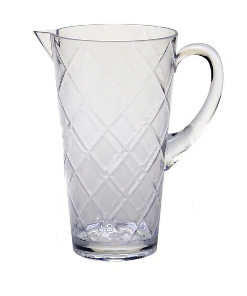 Clear Diamond Acrylic Pitcher