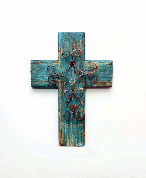 Turquoise Wall Cross, Small
