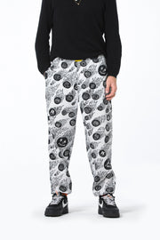 Mens Elastic Cuff Grazer Pant - Flaming Faces - R8gzwear