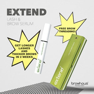 Browhaus Extend Lash & Brow Growth Serum with Free Brow Threading