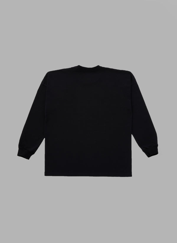 PAISLEY ARCH LOGO L/S TEE-BLACK