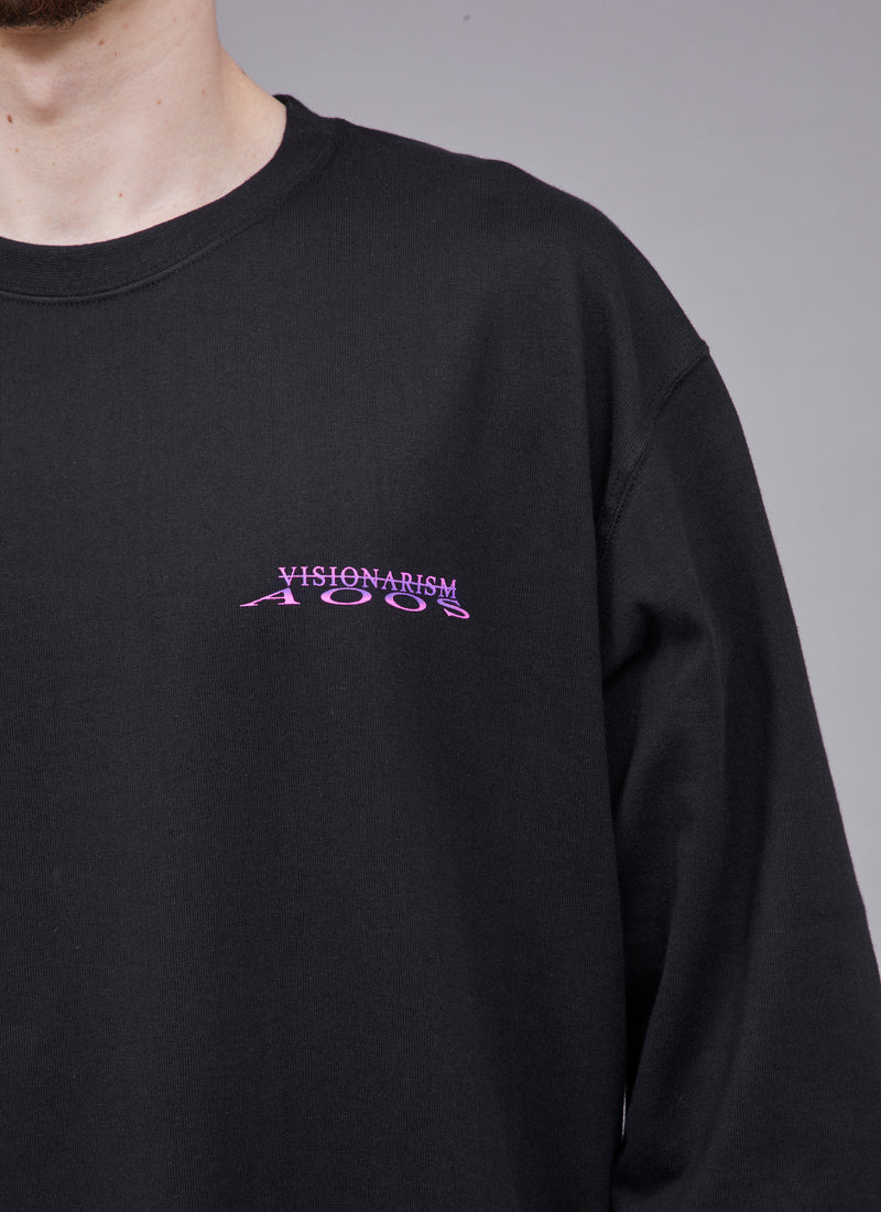 "ALWAYS OUT OF STOCK × VISIONARISM SKURA L/S TEE-BLACK ""MIDNIGHT BLOSSOM"""