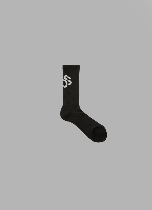 FADED LOGO HIGH SOCKS-BLACK