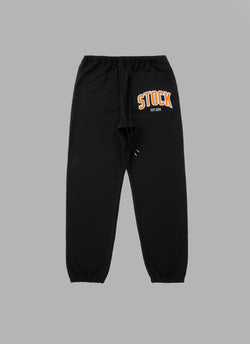 SAGARA EMBROIDERY SWEAT PANTS-BLACK