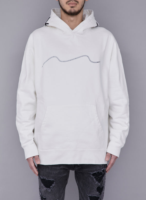 SHOELACE THICK PULLOVER-WHITE