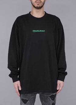 OLD ENGLISH SHOELACE HEAVYWEIGHT L/S TEE-BLACK