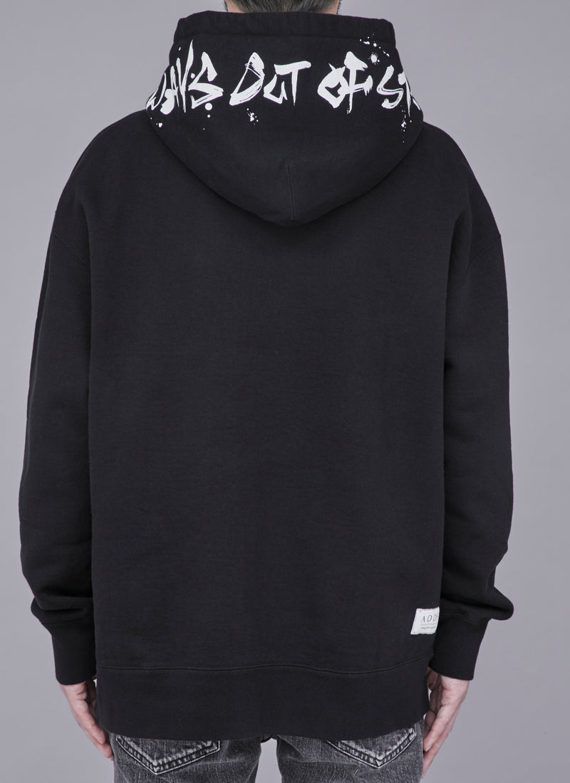 SHOELACE THICK PULLOVER-BLACK