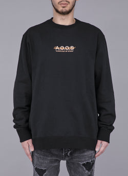 GET`EM BEFORE OUT OF STOCK CREW NECK -BLACK