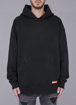 LOOP WHEEL HOODED PULLOVER-BLACK (吊り裏毛)