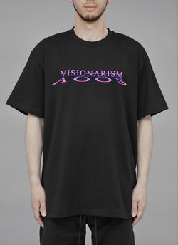"ALWAYS OUT OF STOCK × VISIONARISM WATER REFLECTION TEE-BLACK  ""MIDNIGHT BLOSSOM"""
