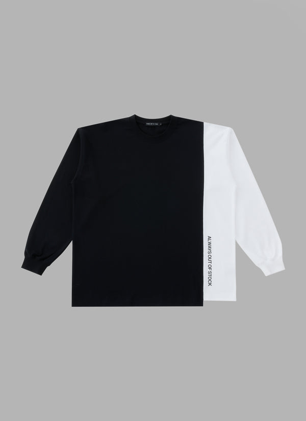 SWITCHED L/S TEE-BLACK/WHITE