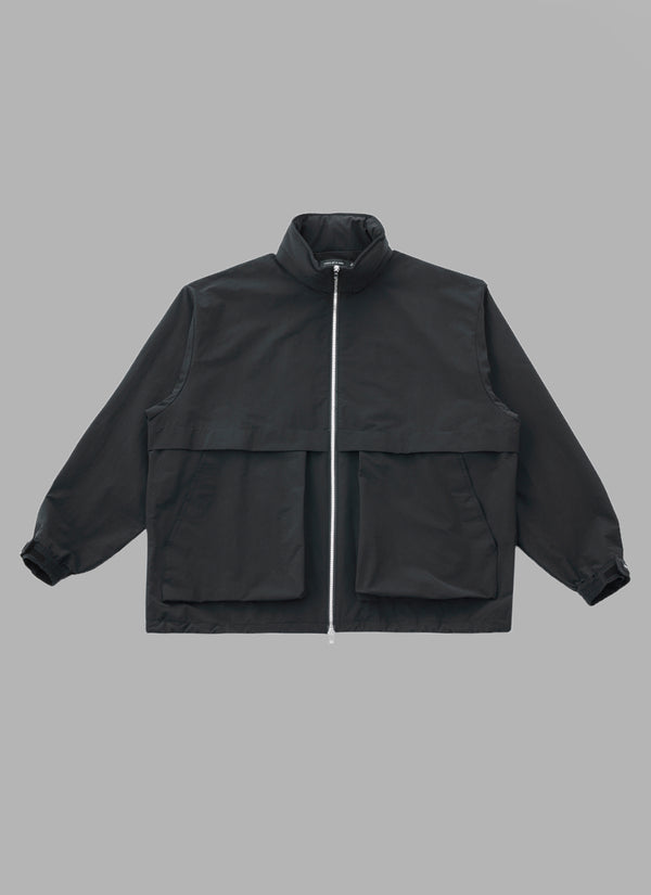 HIGH STAND COLLAR ZIP-UP SHELL JACKET