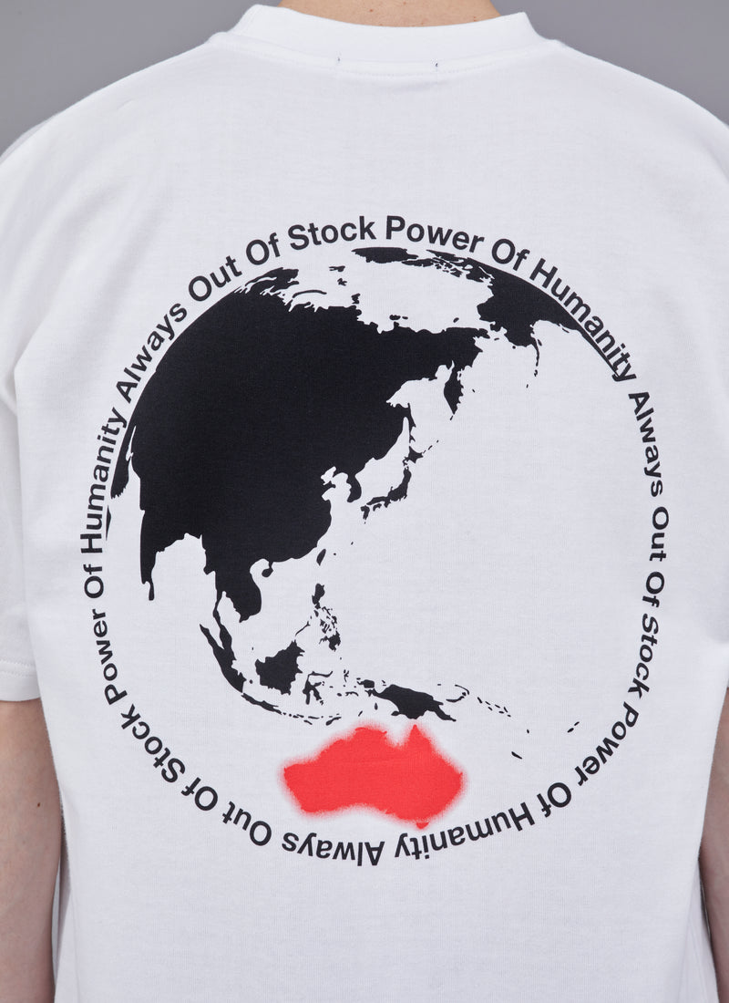 POWER OF HUMANITY TEE-WHITE