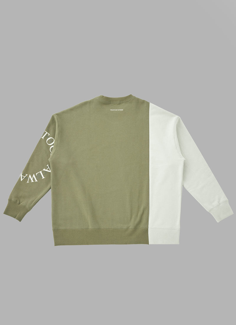 SWITCHED BERBED WIRE CREWNECK