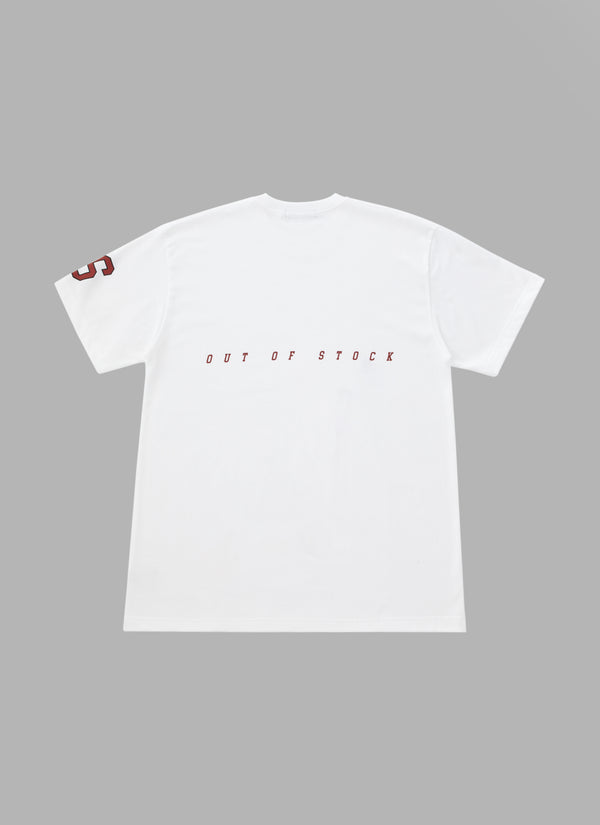 SLASH LOGO TEE-WHITE