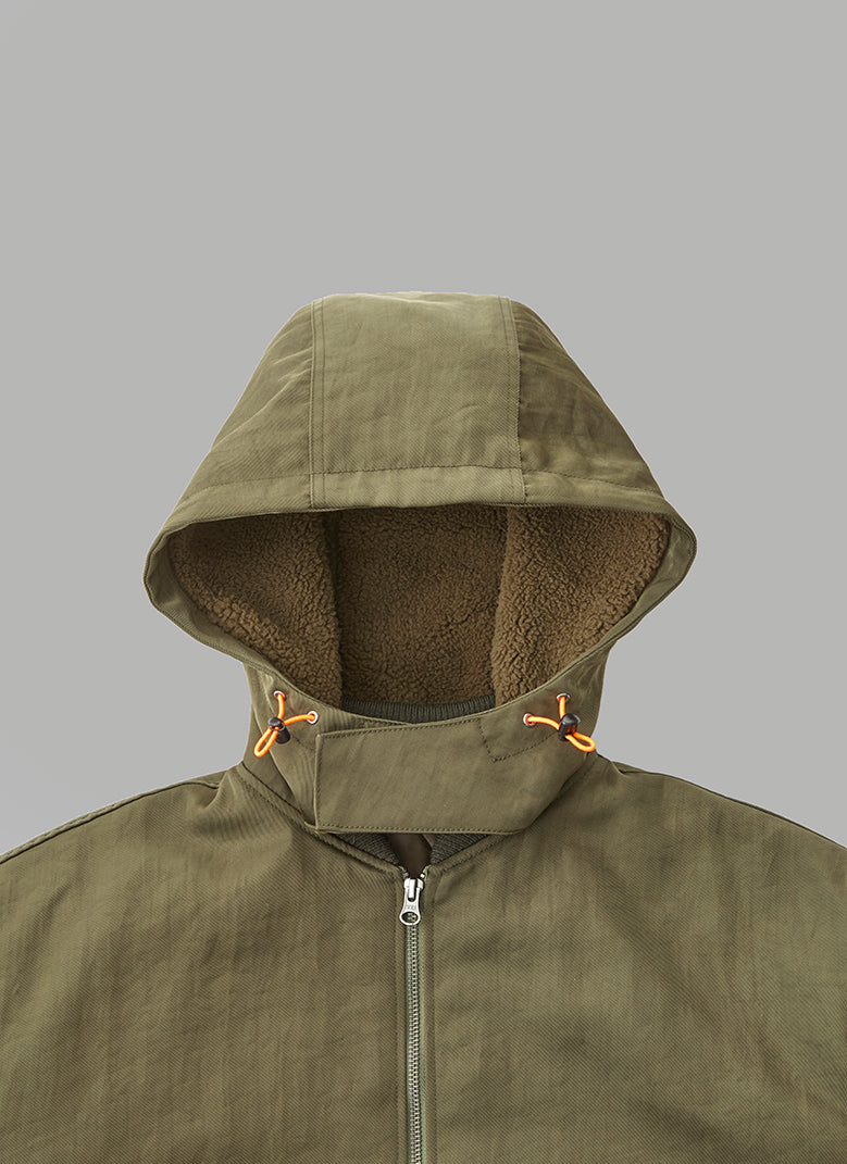 HOODED BOMBER JACKET